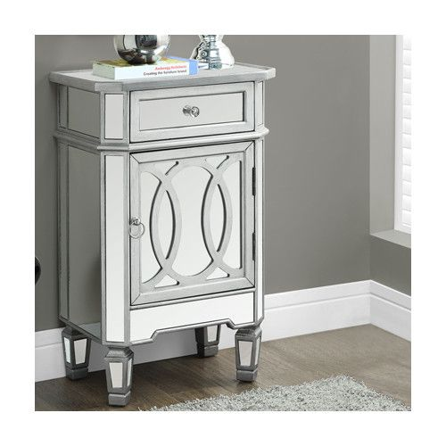 Monarch Specialties Inc. Accent Cabinet | Mirrored accent ...