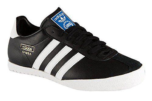 Adidas Bamba Black Textile Leather Indoor Soccer Shoes Trainers \u2013 Black/ White \u2013 UK SIZE