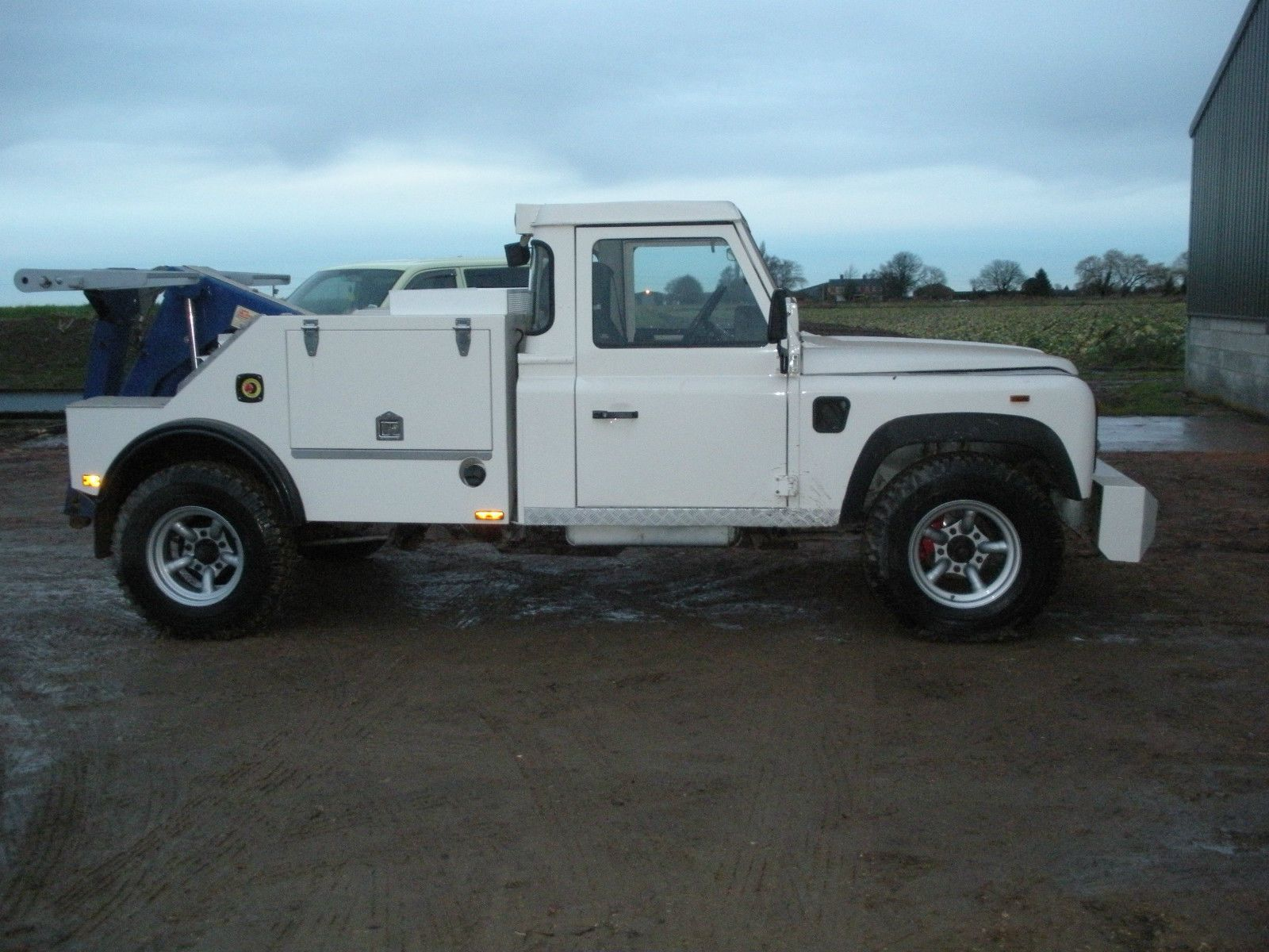 Land Rover Defender 130 Spectacle Lift Tow Truck RHD Very Rare