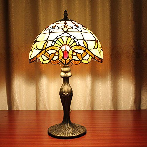 12 Inch Vintage Pastorale Baroque Stained Glass Tiffany Table Lamp Chambre Lampe Lampe De Chevet Haute Qualite Main Lampe Lampe De Chevet Lamp Lampes Tiffany