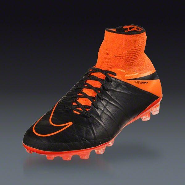 Nike Hypervenom Phantom II Leather Ag-R Black / Total Orange / Black