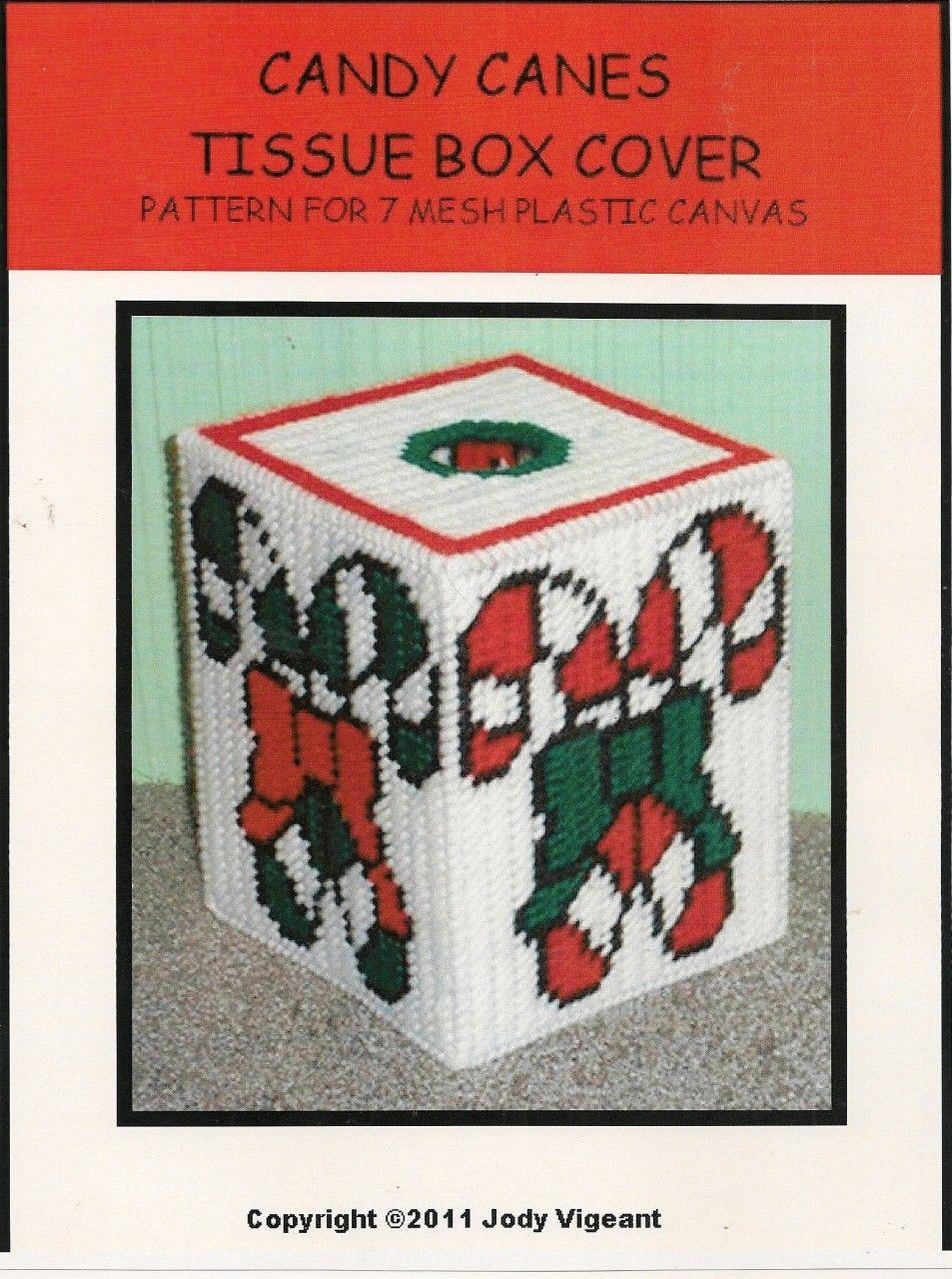 Free Plastic Canvas Tissue Box Patterns Plastic Canvas Candy Cane