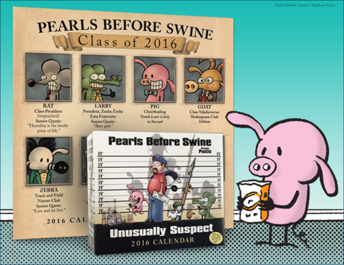 --THIS GIVEAWAY HAS ENDED-- We're giving one reader the chance to win a Pearls Before Swine 2016 wall calendar AND a Pearls Before Swine 2016 day-to-day calendar. Find out how to enter: http://blogs.gocomics.com/2015/12/giveaway-pearls-before-swine-2016-calendars.html?utm_source=pinterest&utm_medium=socialmarketing=utm_content=giveawaypearlsbeforeswine2016calendars-giveaway&utm_campaign=social | #GoComics #comics #calendars #giveaway #PearlsBeforeSwine