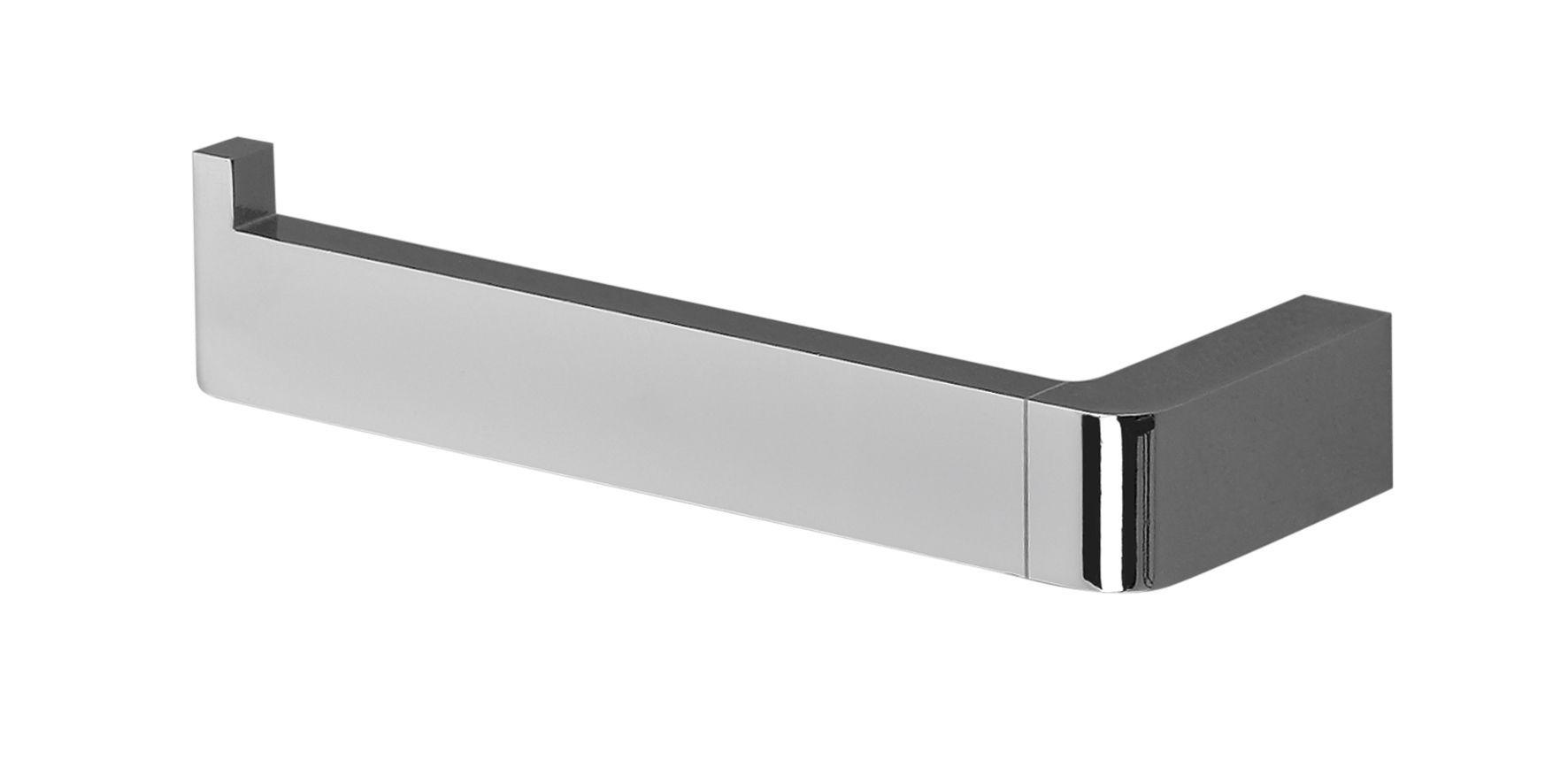 Cooke & Lewis Streamline Silver Chrome Effect Toilet Roll Holder, (W ...