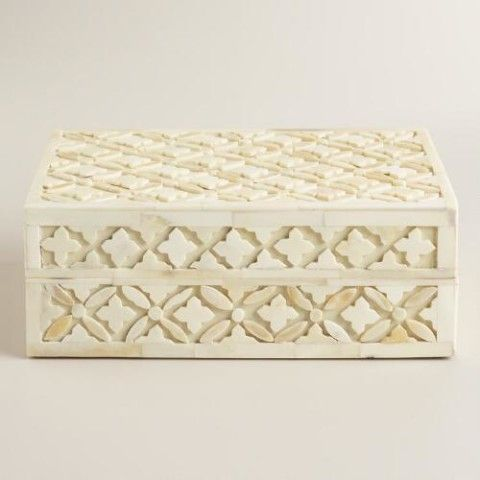 World Market Jewelry Box Mesmerizing Shop This Ivory Bone Alexis Jewelry Box From World Market On Keep Inspiration
