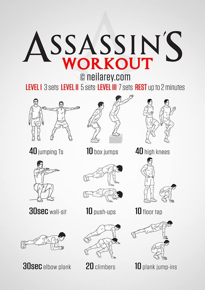 Get ripped, stab templars? All in a days workout.