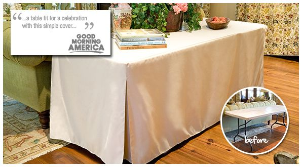Tablevogue Unapologetically Better Table Cover Diy Fitted Table Cover Table Covers