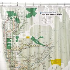 Mta New York City Subway Map Vinyl Shower Curtain Vinyl Shower