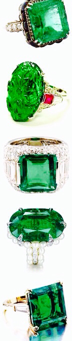 Elegant Emerald rings
