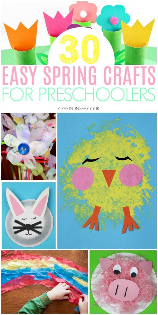 30 Easy And Fun Spring Crafts For Preschoolers Kids Crafts