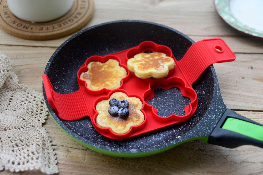 2017 flippin' fantastic nonstick pancake maker egg silicone pancake maker egg ring maker