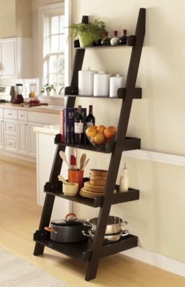 Perfect Uses For A Ladder Shelf Ladder Shelves Ladder Shelf In Kitchen Tcmgsed Laddershelves Kitchen Ladder Decor Ladder Shelf Decor Kitchen Ladder Shelves