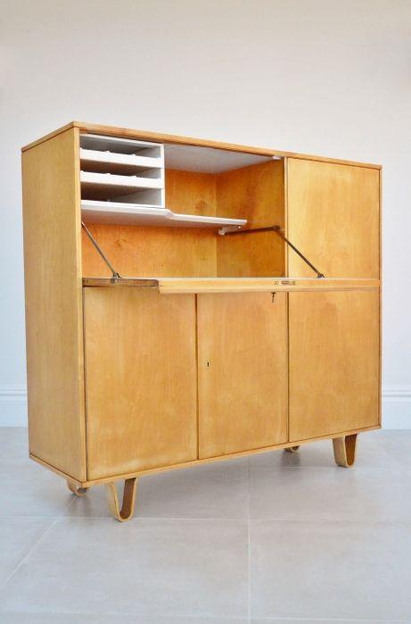 Cees Braakman birch series desk, 1950s bureau