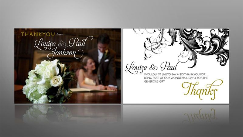 17 Best images about Wedding Thank You Cards – Wedding Thank You Card Design