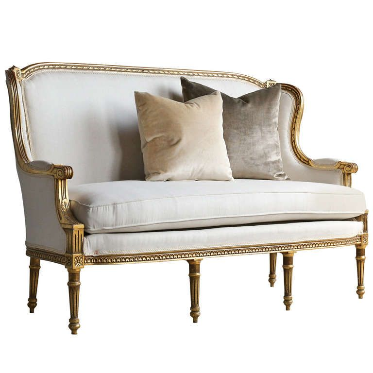 Wing Back Vintage Louis Xvi Settee Settees Unique And Modern