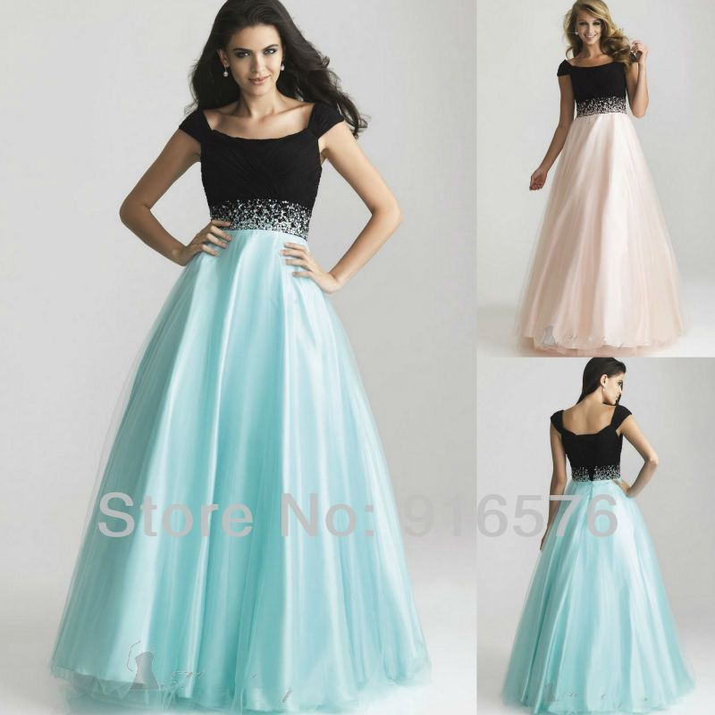 Plus Size 2013 Prom Dresses Cape Sleeve Floor Length Tulle ...
