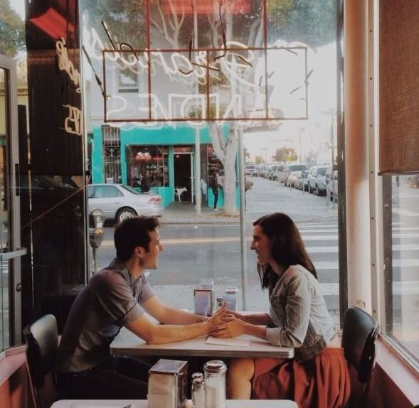 A date in an old, cute, little restaurant    All the Little