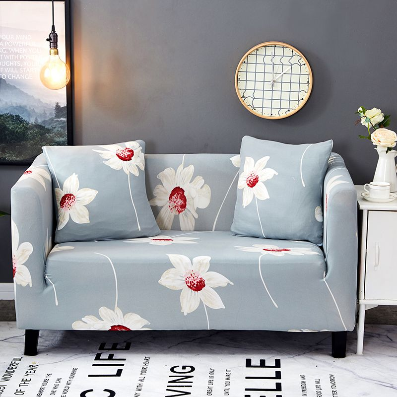 Light Flowers Couch Sofa Covers For Living Room Multi Size