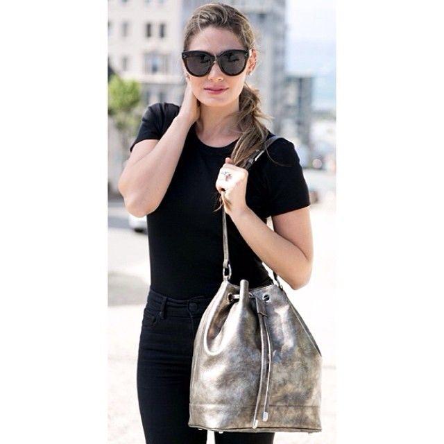 Jill Milan Accessories @jill_milan Instagram photos | Websta Ellian Raffoul of Look Models with Jill Milan's SoMa bag.  Photography by Moanalani Jeffrey.