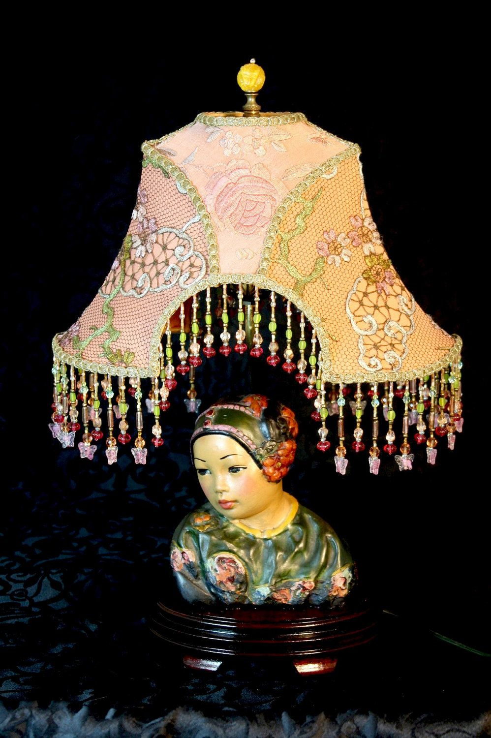 Vintage esther hunt bust chinese lamp ooak and stunning chinese vintage esther hunt bust chinese lamp ooak and stunning 97500 via etsy aloadofball Image collections