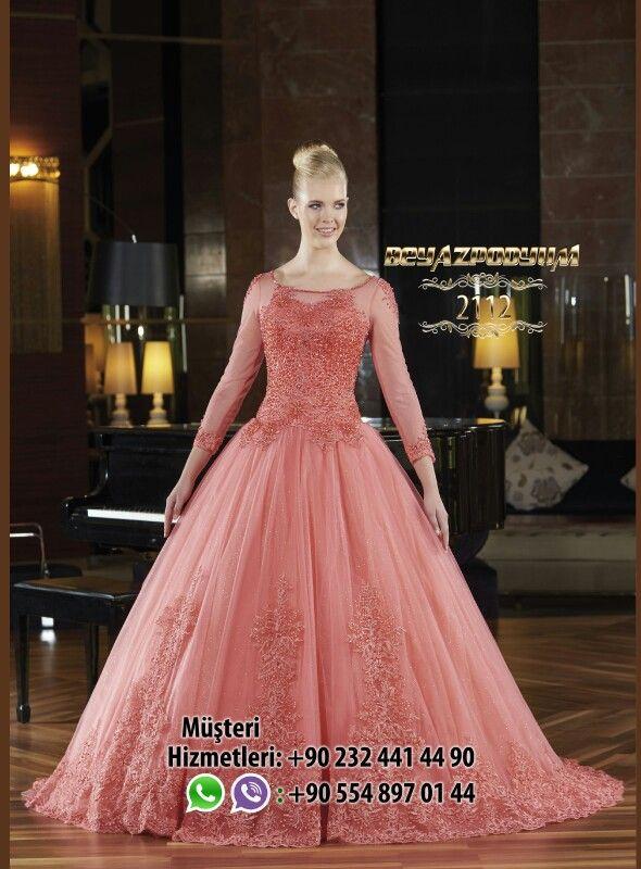 015bcd508406e BEYAZ PODYUM NİŞANLIK | Nişanlık Modelleri | Formal dresses, Ball ...