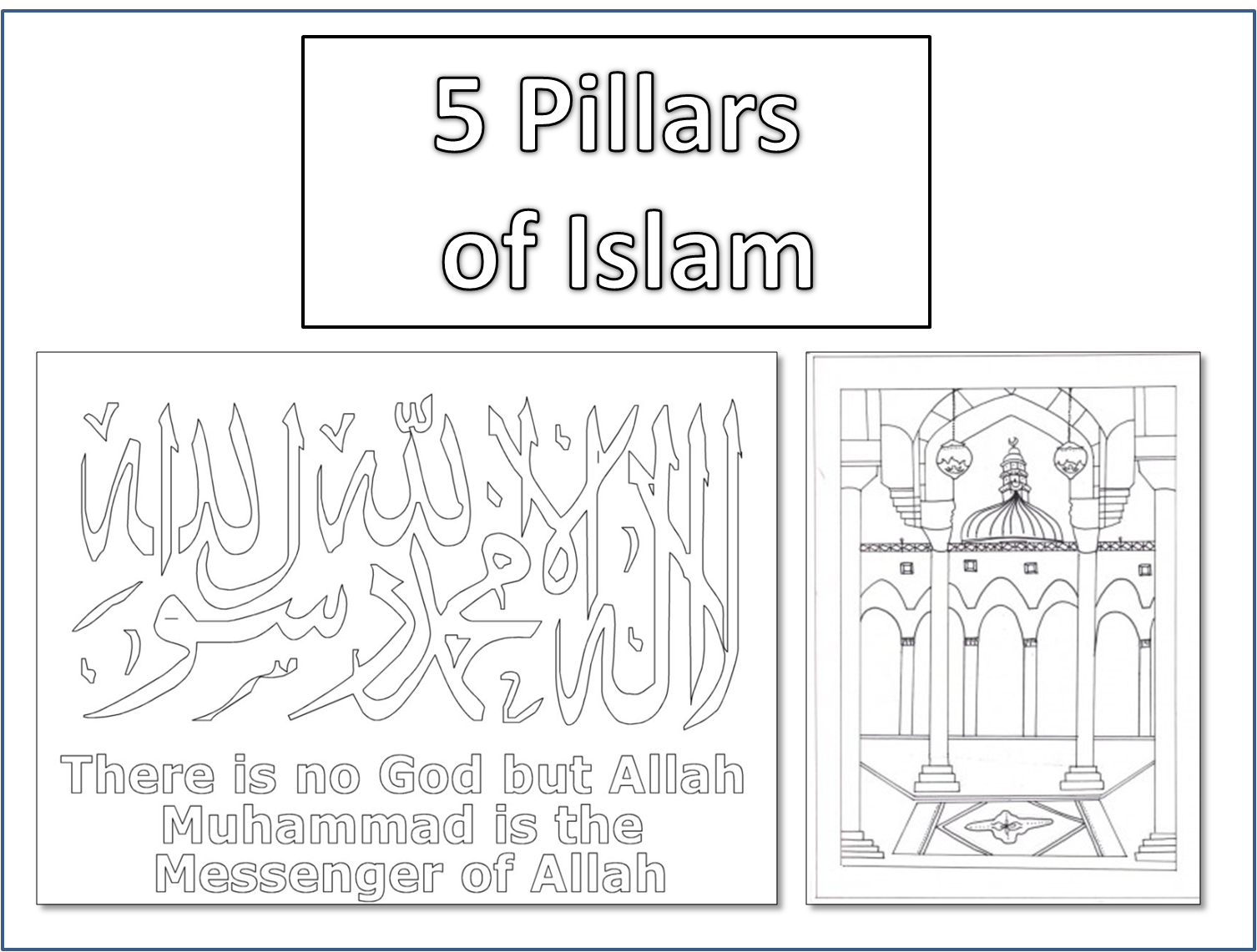 5 Pillars of Islam Resources Tasheel Tadrees – 5 Pillars of Islam Worksheet