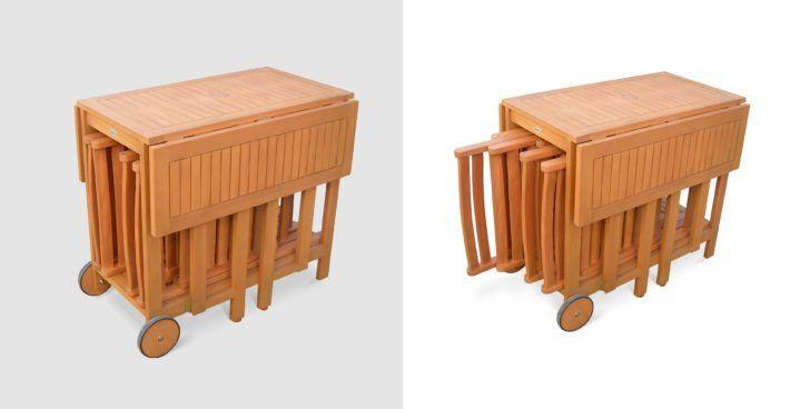 interior design table exterieur bois