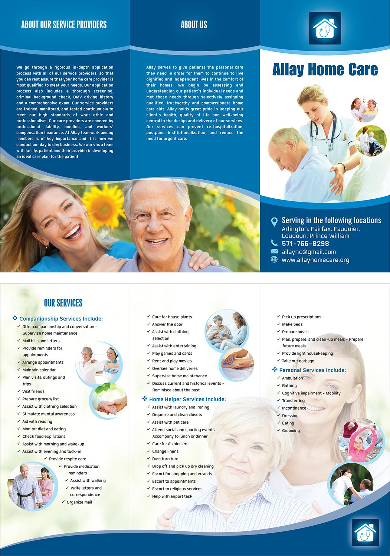 56 elegant brochure designs home health care brochure