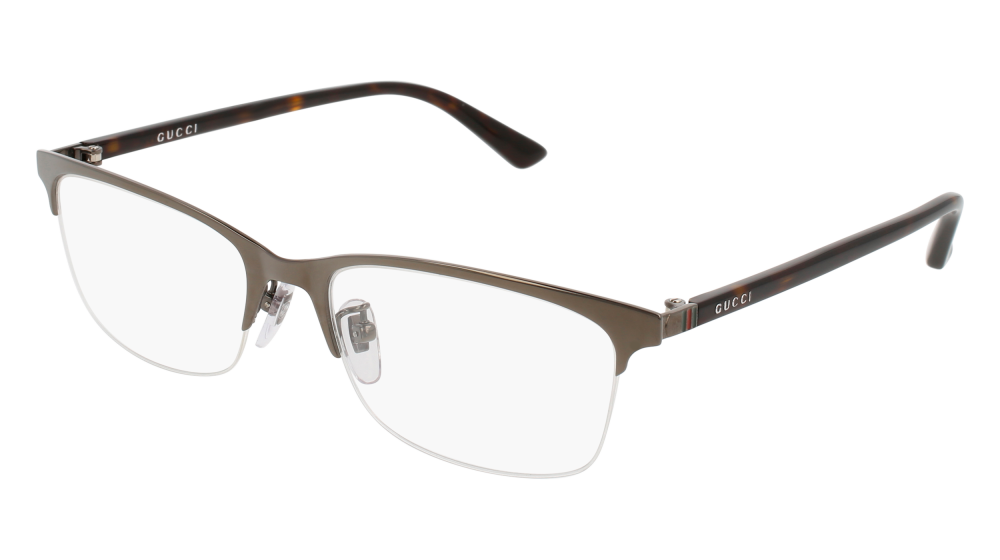 f123cfadd0 Gucci - GG0132OJ-003 Ruthenium Havana Eyeglasses   Demo Lenses ...