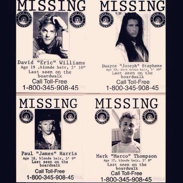 Lost Boys Missing Posters