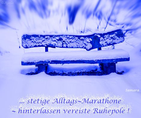 ... stetige #Alltags~Marathone ~ hinterlassen vereiste #Ruhepole !