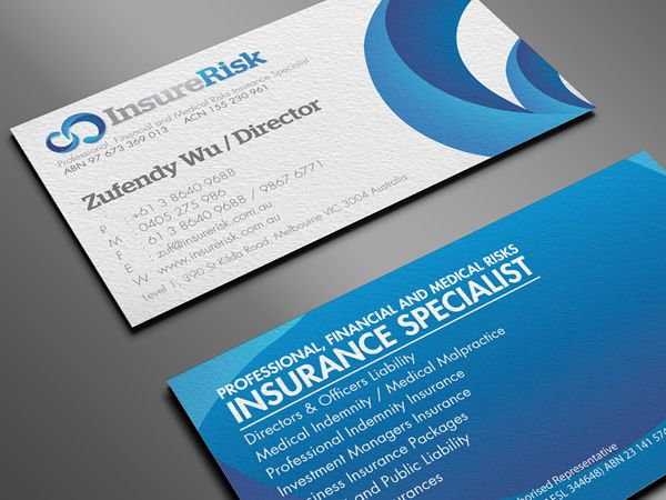 Super Cool Insurance Agent Business Card With Personal Photo From