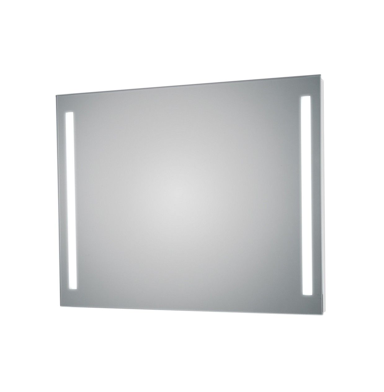 Exemplary Modern High End Luxurious Horizontal Bathroom Wall Mirror Made Of High  Quality Glass With Side LED Lights.