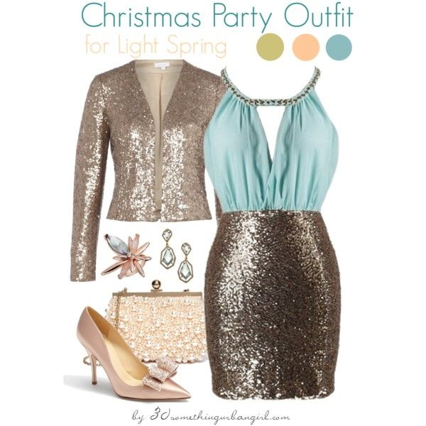 61e676f261ee Pretty Christmas party outfits for Light Spring and Light Summer ...
