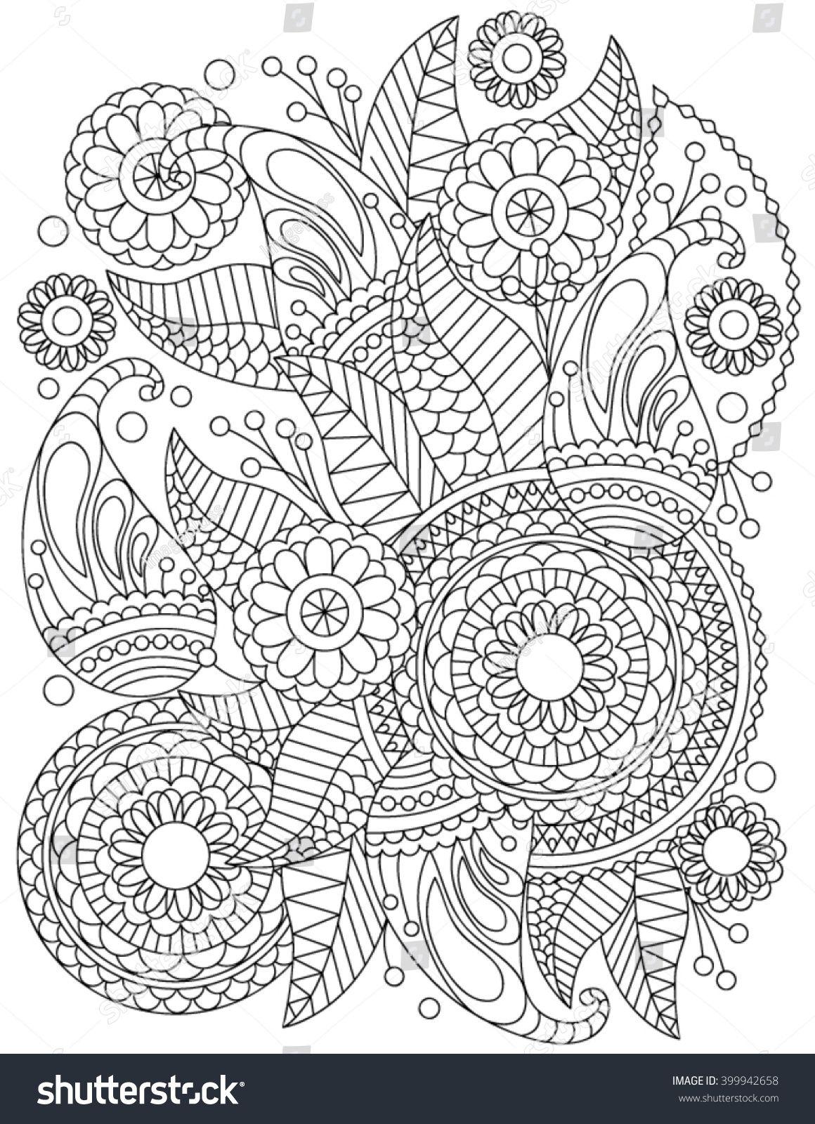 hand drawn henna abstract mandala