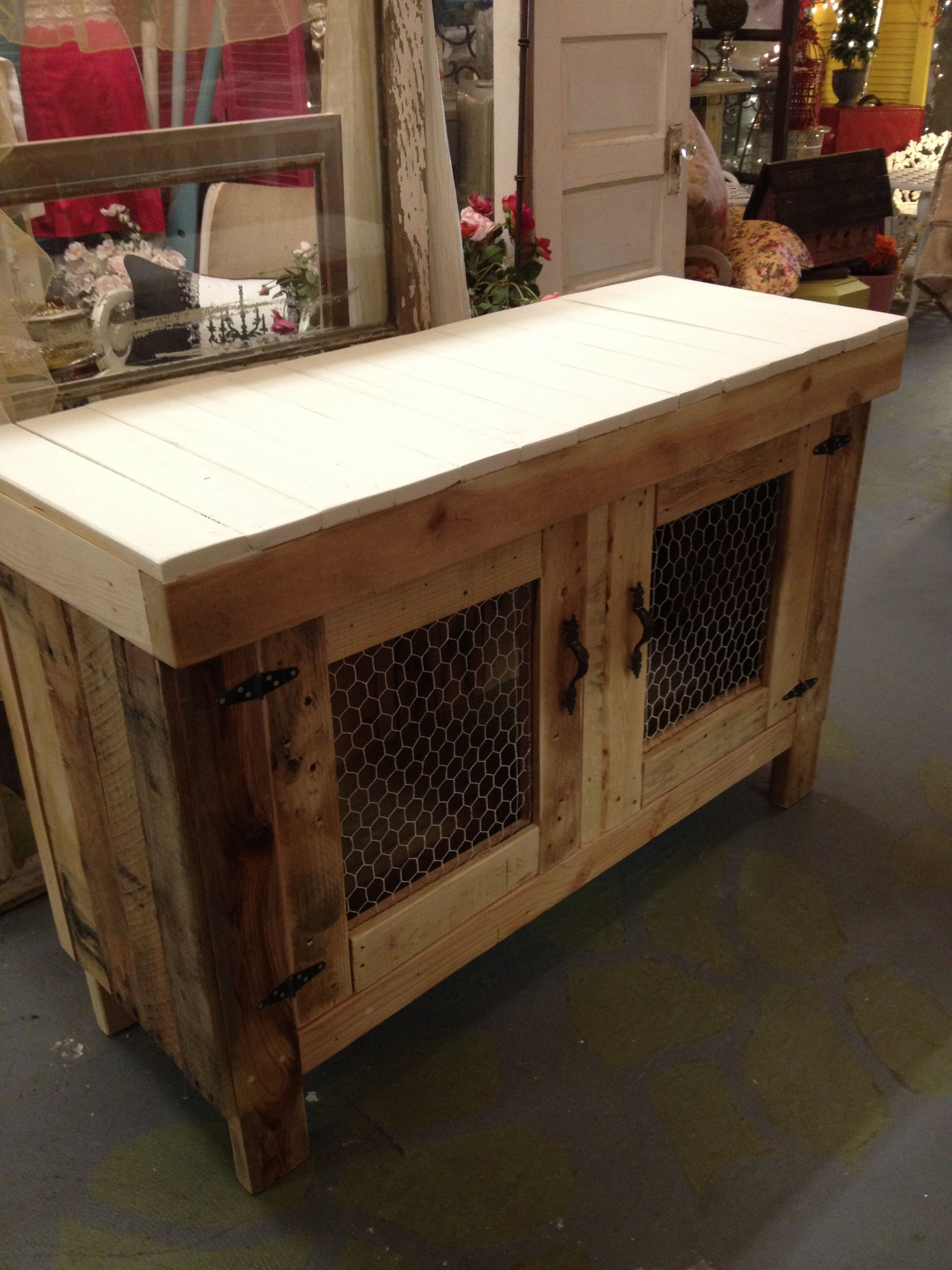 Custom Pallet Buffet Or Media Cabinet Many People Are Pinning