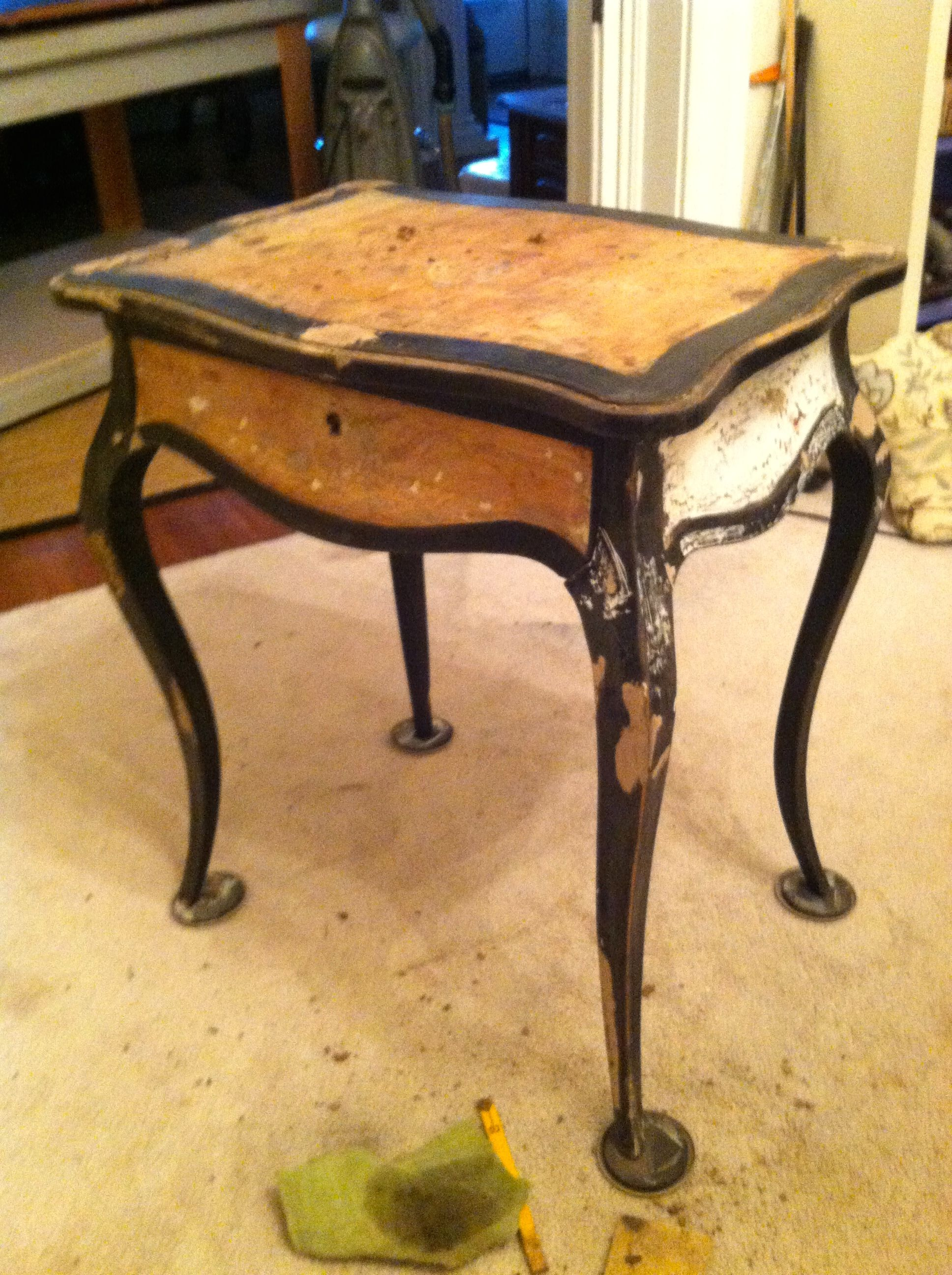 Before19th C Ladies Work Table I Was Told That Tortoise Shell