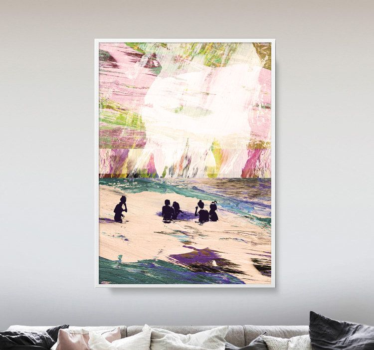 Beach Art Prints Surf Printable Minimal Living Room Digital Download Ocean Abstract Wall