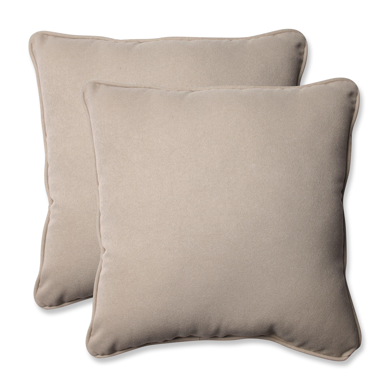 Pillow Perfect Decorative Beige Outdoor Toss Pillows Set Of 2