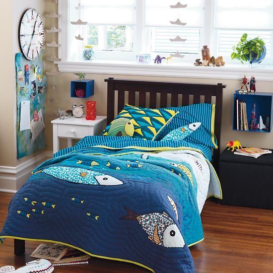 Kids Bedding Ocean Life Bedding Set In Boy Bedding The