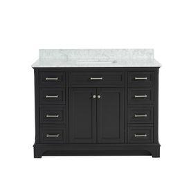 allen roth roveland gray undermount single sink bathroom vanity rh pinterest com