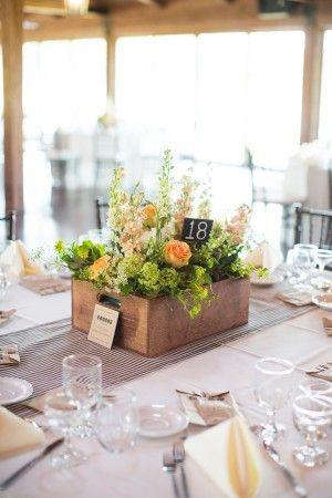 Garden Inspired Wedding Centerpiece