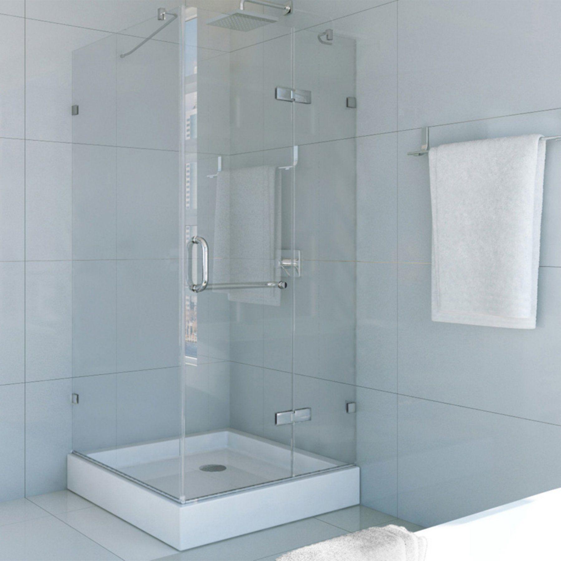 Vigo VG6011363W 36.125W x 79.21H in. Clear Glass Shower Enclosure ...