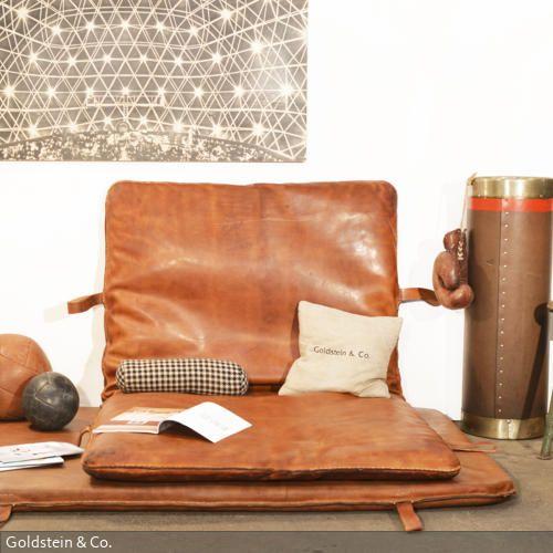 Vintage Turnmatten Aus Leder Diy Sofa Haus Deko Hausmobel