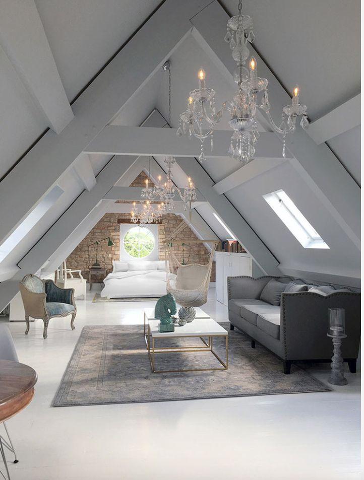 Open space in mansarda - dettaglio soggiorno classico | Retro Home ...