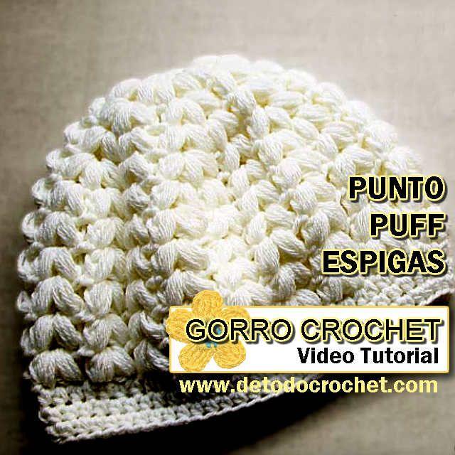Todo crochet: Gorro | Gorros | Pinterest | Cómo tejer, Espiga y Puntos