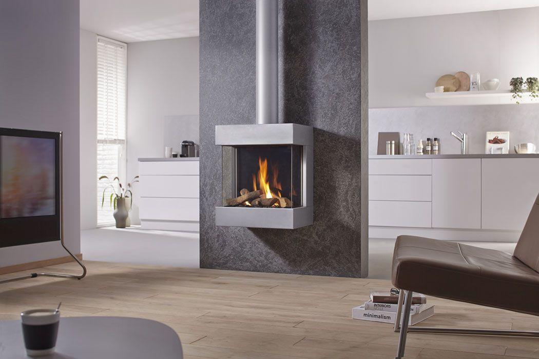 Dru Diablo Next Vrijhangende Gashaard Aardgas Propaan Haard Freestanding Fireplace Modern Fireplace Fireplace