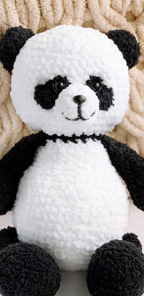 PDF panda crochet FREE crochet pattern panda Amigurumi doll patterns Amigurumi schemes in Russian  мишгки