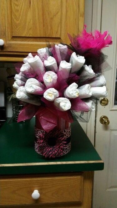 My first diaper bouquet!