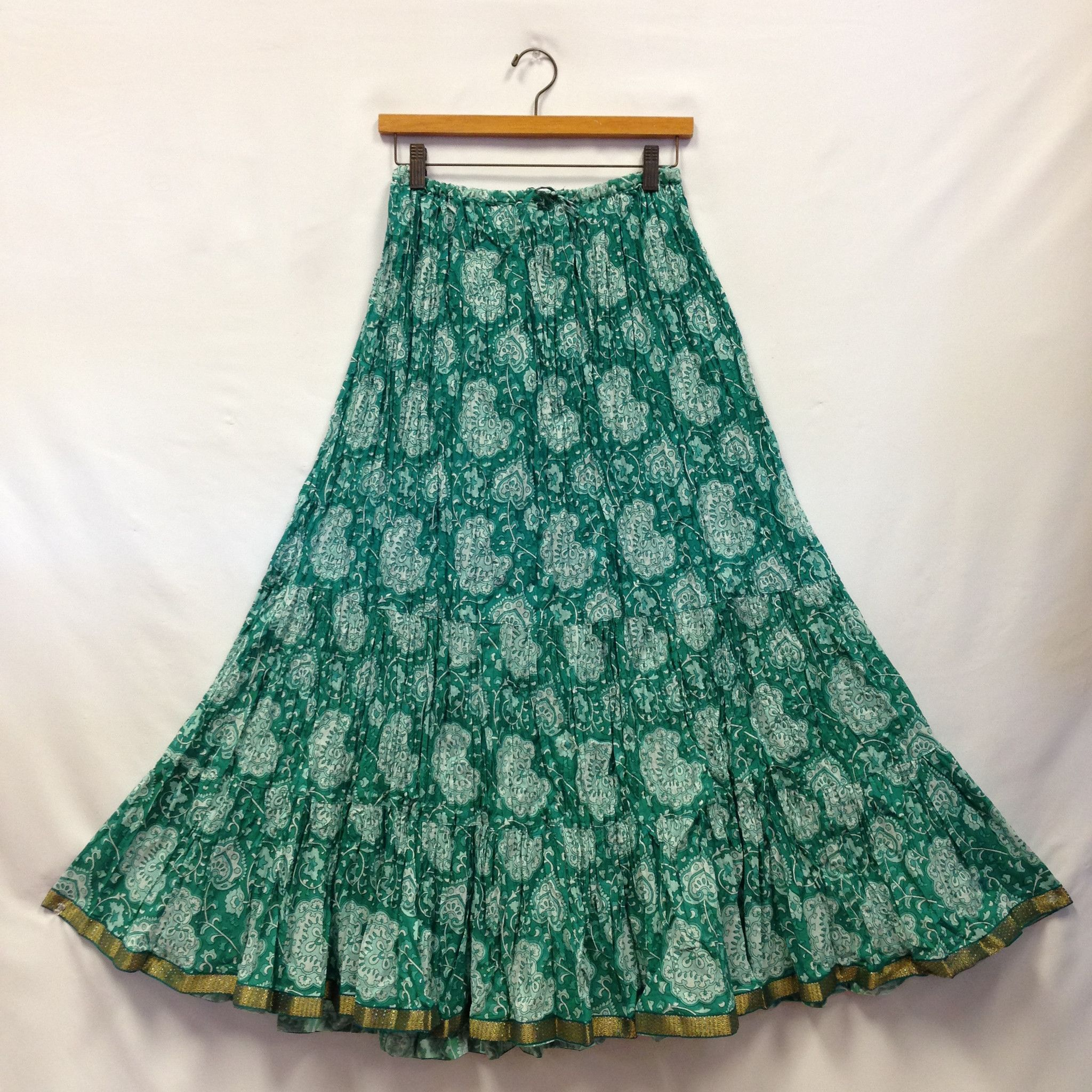 a36153deed Rajasthani Long Cotton Flared Skirt - Sea Green | Love it | Flare ...